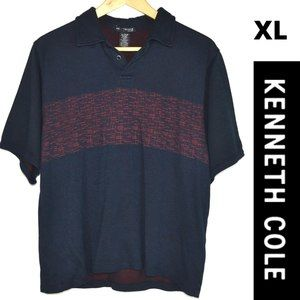 Kenneth Cole, Men's Polo XL, Navy Blue